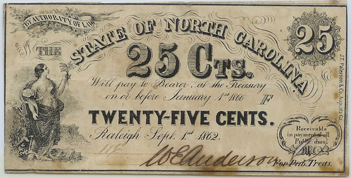 NC 25 cents