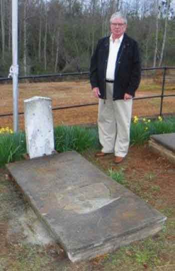 Brown grave site restored